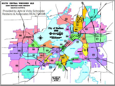 Madison Real Estate Show: Madison WI MLS Map Showing Areas of Madison